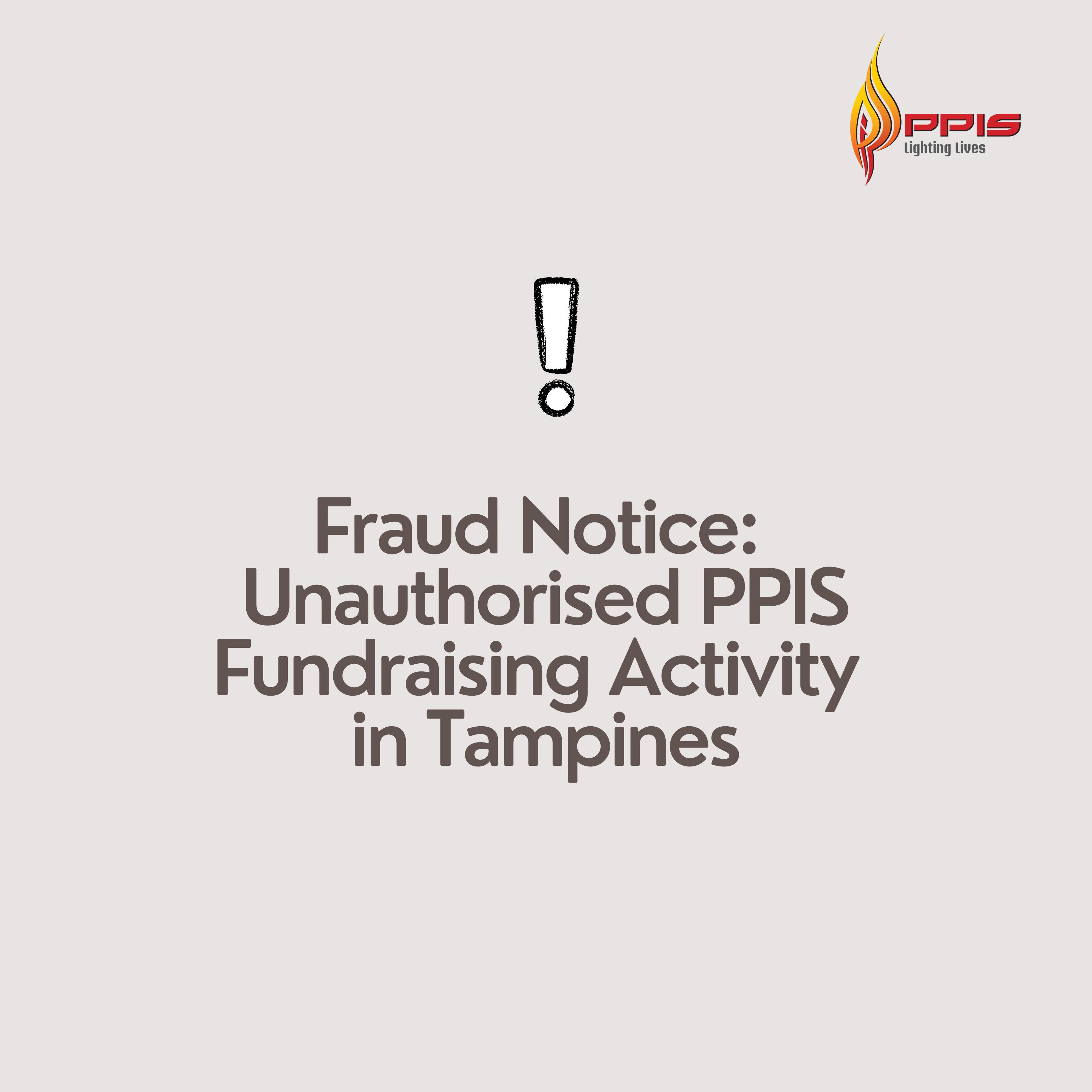 Fraud Notice